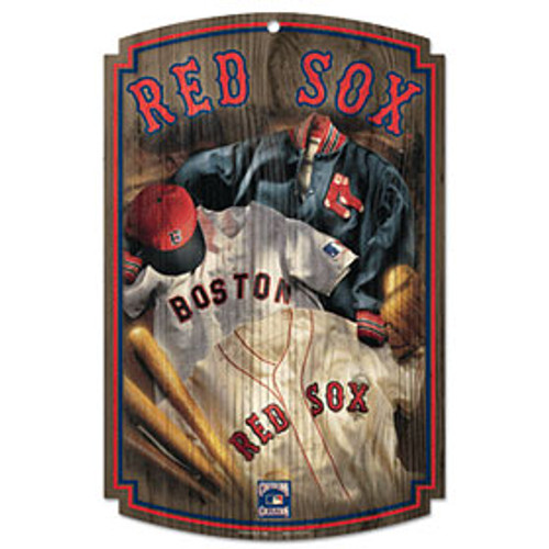 Boston Red Sox Sign 11x17 Wood Throwback Jersey Design - Special Order