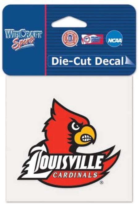 Louisville Cardinals Decal 4x4 Perfect Cut Color - Special Order