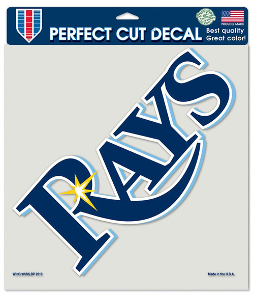 Tampa Bay Rays Decal 8x8 Perfect Cut Color Special Order