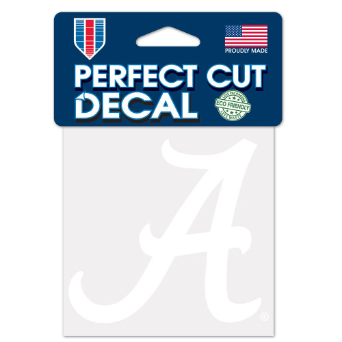 Alabama Crimson Tide Decal 4x4 Perfect Cut White