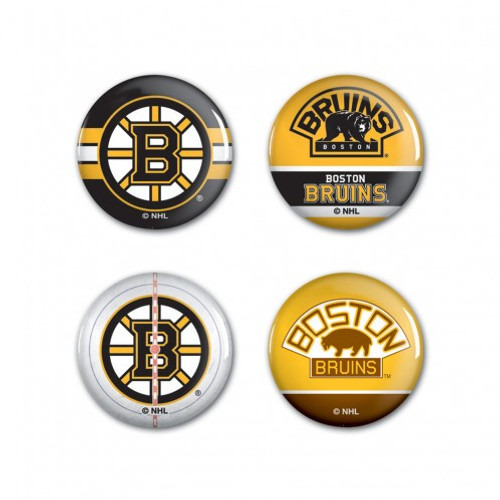 Boston Bruins Buttons 4 Pack - Special Order