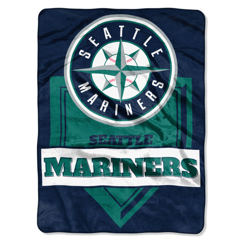 Seattle Mariners Blanket 60x80 Raschel Home Plate Design - Special Order