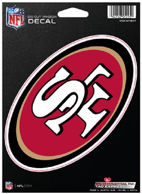 San Francisco 49ers Decal Die-Cut Medium - Special Order