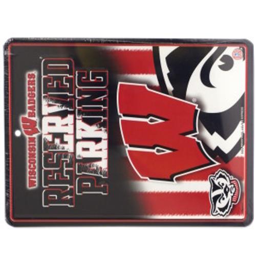 Wisconsin Badgers Sign Metal Parking - Special Order