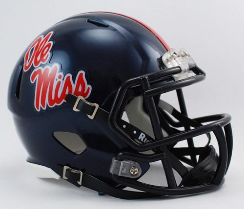 Mississippi Rebels Helmet Riddell Replica Mini Speed Style - Special Order