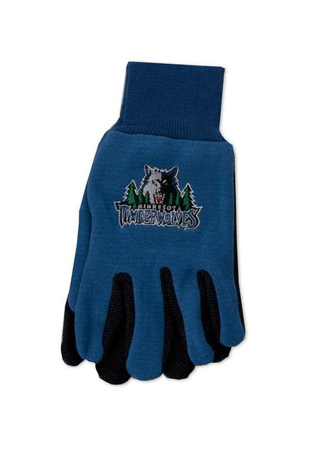 Minnesota Timberwolves Gloves Two Tone Style Adult Size - Special Order