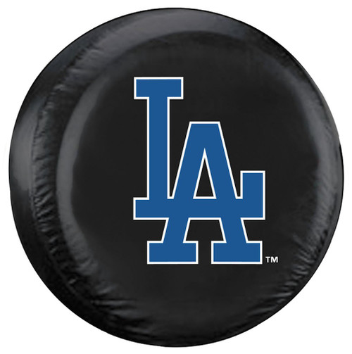 Los Angeles Dodgers Tire Cover Standard Size Black CO