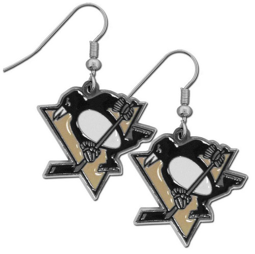 Pittsburgh Penguins Earrings Dangle Style - Special Order