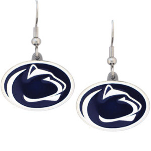 Penn State Nittany Lions Earrings Dangle Style - Special Order