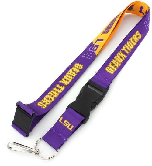 LSU Tigers Lanyard Breakaway Style Slogan Design - Special Order
