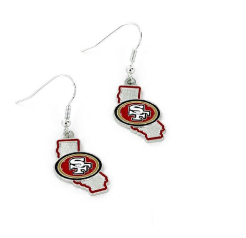 San Francisco 49ers Earrings State Design - Special Order
