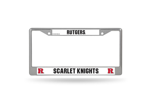 Rutgers Scarlet Knights License Plate Frame Chrome - Special Order