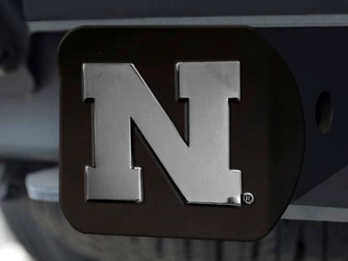 Nebraska Cornhuskers Hitch Cover Black FanMats - Special Order