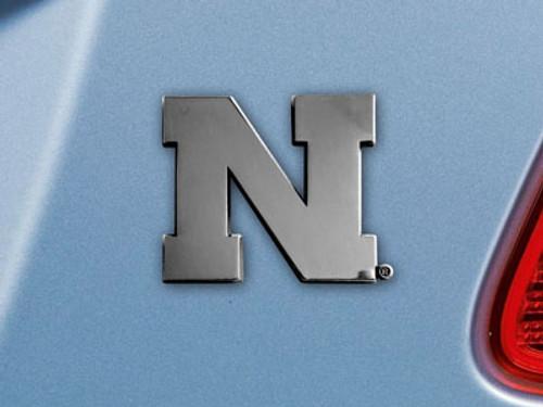Nebraska Cornhuskers Auto Emblem Premium Metal Chrome