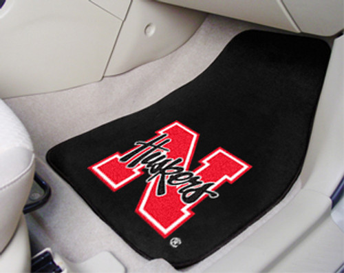 Nebraska Cornhuskers Car Mats Printed Carpet 2 Piece Set - Special Order