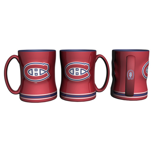 Montreal Canadiens Coffee Mug 14oz Sculpted Relief