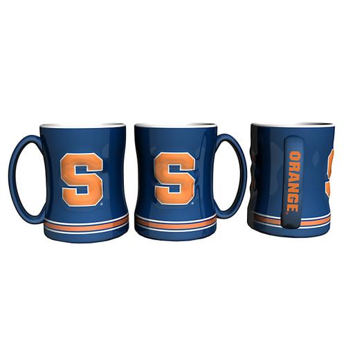 Syracuse Orange Coffee Mug 14oz Sculpted Relief