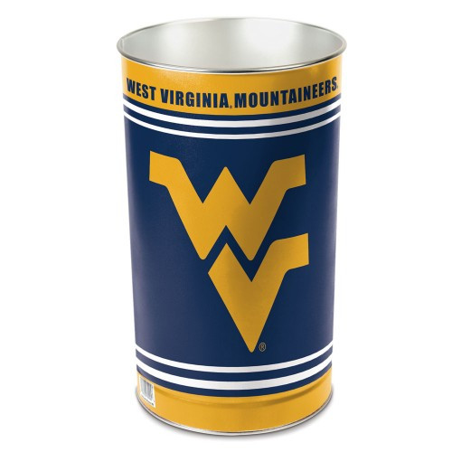 West Virginia Mountaineers Wastebasket 15 Inch - Special Order