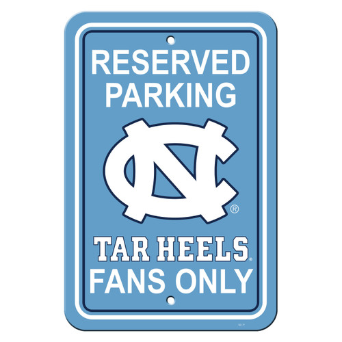 North Carolina Tar Heels Sign 12x18 Plastic Reserved Parking Style CO
