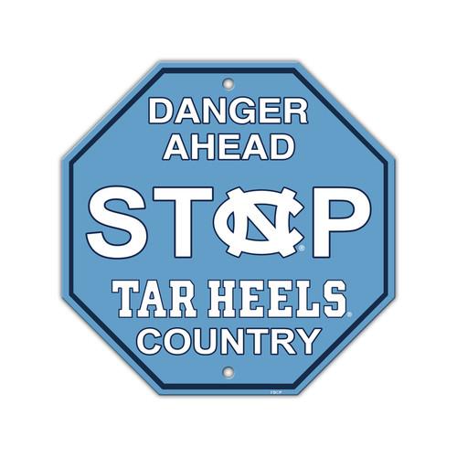 North Carolina Tar Heels Sign 12x12 Plastic Stop Style CO