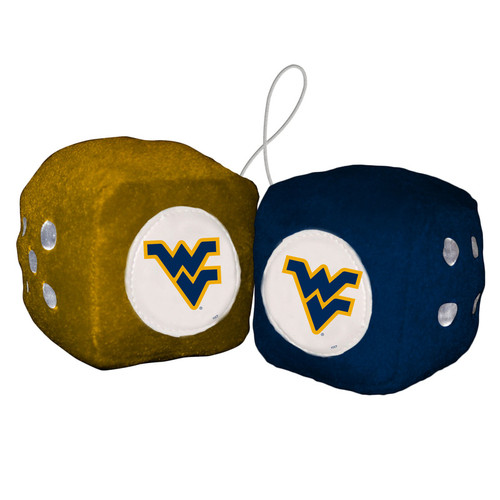 West Virginia Mountaineers Fuzzy Dice CO