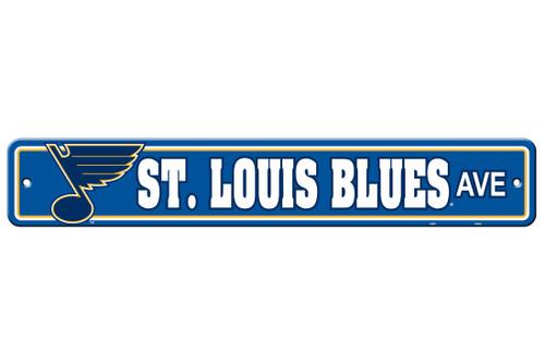 St. Louis Blues Sign 4x24 Plastic Street Style CO