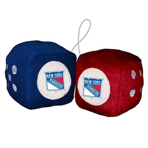 New York Rangers Fuzzy Dice CO
