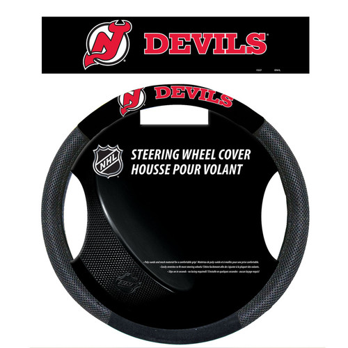 New Jersey Devils Steering Wheel Cover Mesh Style CO
