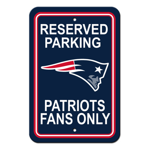 New England Patriots Sign 12x18 Plastic Reserved Parking Style CO