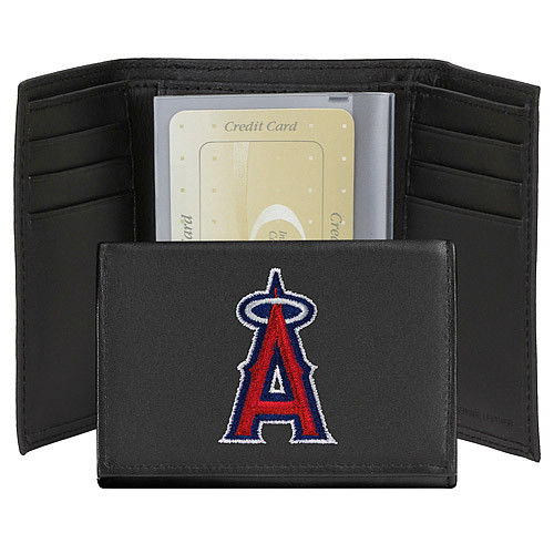 Los Angeles Angels Embroidered Leather Tri-Fold Wallet - Special Order