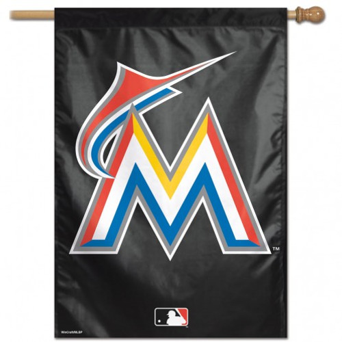 Miami Marlins Banner 28x40 Vertical Logo Design - Special Order