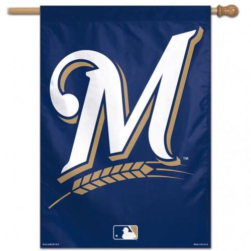 Milwaukee Brewers Banner 28x40 Vertical Alternate Design - Special Order