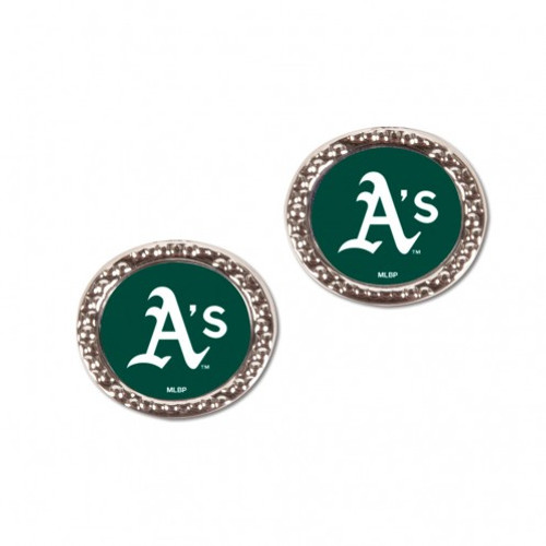 Oakland Athletics Earrings Post Style - Special Order