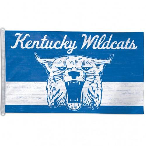 Kentucky Wildcats Flag 3x5 Deluxe Vintage Design - Special Order