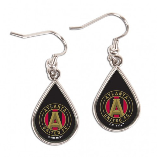 Atlanta United FC Earrings Tear Drop Style - Special Order