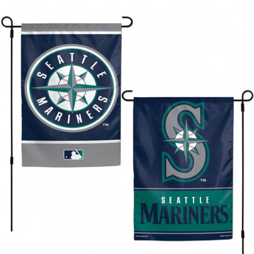 Seattle Mariners Flag 12x18 Garden Style 2 Sided - Special Order