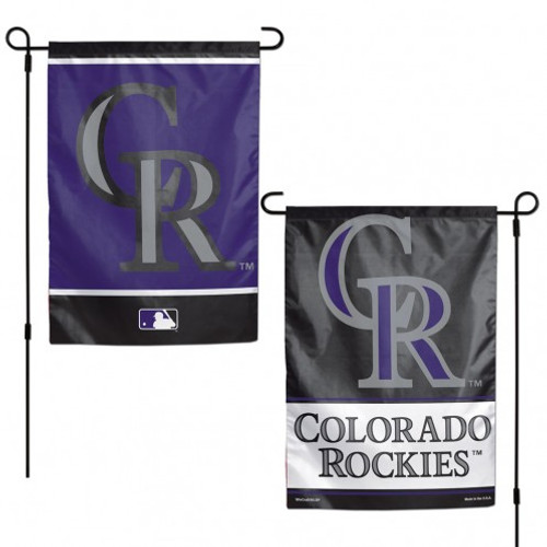 Colorado Rockies Flag 12x18 Garden Style 2 Sided - Special Order