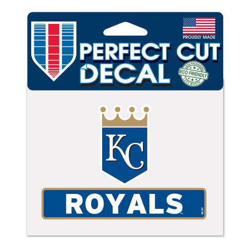 Kansas City Royals Decal 4.5x5.75 Perfect Cut Color - Special Order