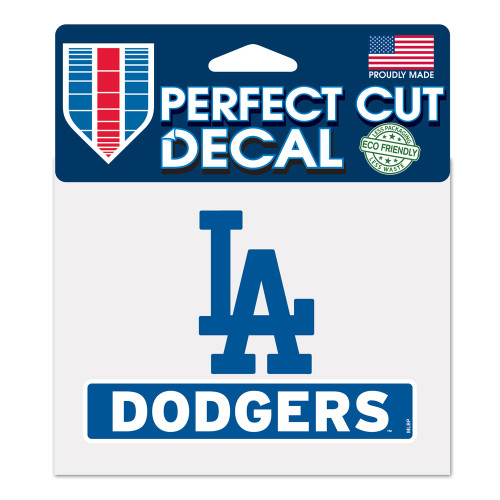 Los Angeles Dodgers Decal 4.5x5.75 Perfect Cut Color - Special Order