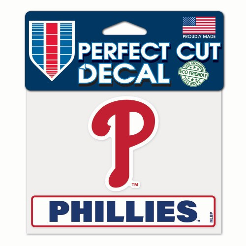 Philadelphia Phillies Decal 4.5x5.75 Perfect Cut Color - Special Order