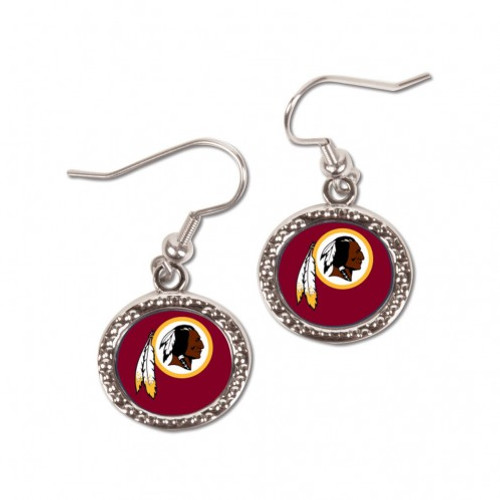 Washington Redskins Earrings Round Style - Special Order