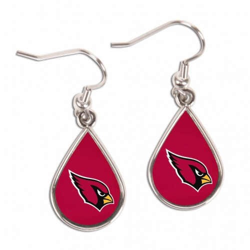 Arizona Cardinals Earrings Tear Drop Style - Special Order