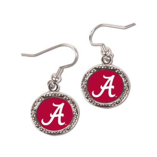 Alabama Crimson Tide Earrings Round Style - Special Order