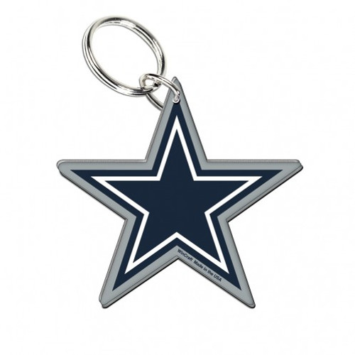 Dallas Cowboys Key Ring Acrylic Carded Premium - Special Order