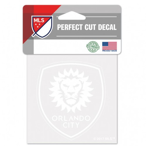 Orlando City SC Decal 4x4 Perfect Cut White - Special Order