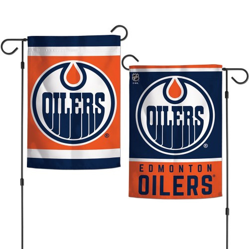 Edmonton Oilers Flag 12x18 Garden Style 2 Sided - Special Order