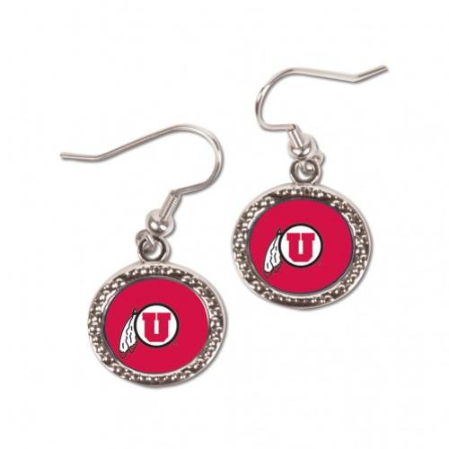 Utah Utes Earrings Round Style - Special Order