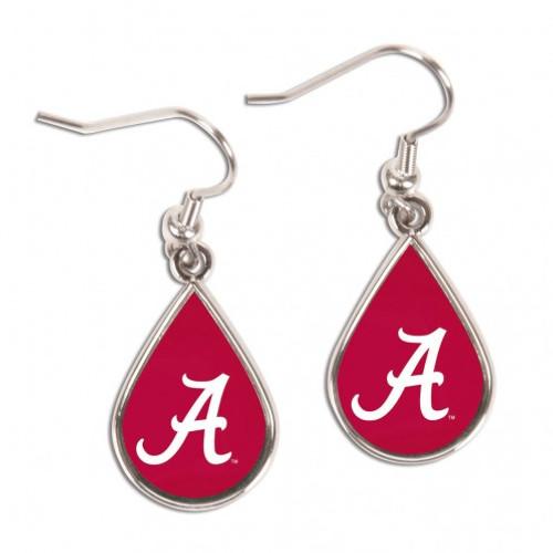 Alabama Crimson Tide Earrings Tear Drop Style - Special Order