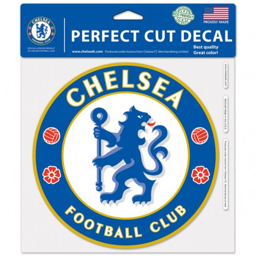 Chelsea Football Club Decal 8x8 Perfect Cut Color