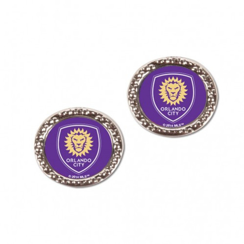 Orlando City SC Earrings Post Style - Special Order